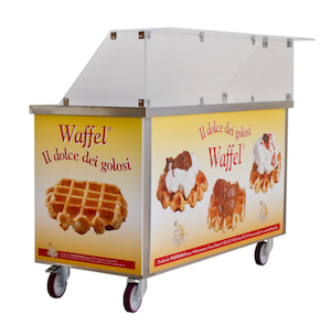 carrello vendita waffel waffelman