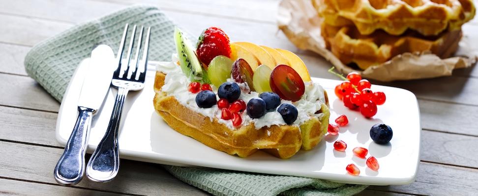waffel dolce ricetta waffelman frutta