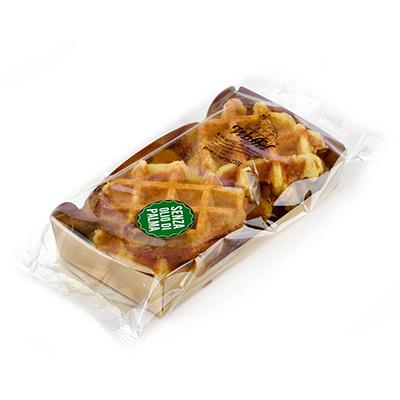 waffel in cartoncino dorato waffelman